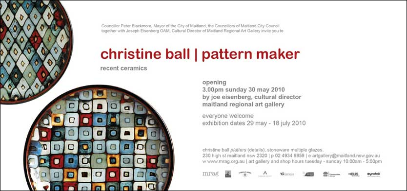 Christine Ball : Pattern Maker